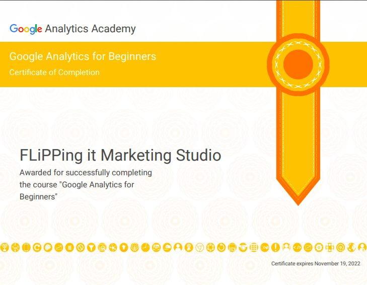 GA (Google Analytics) Course_初級_Google分析結業證明