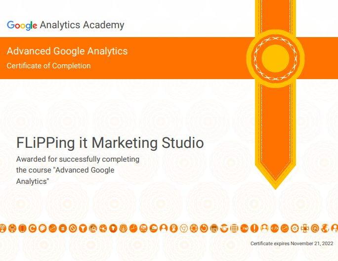 GA (Google Analytics)Course_進階_Google分析結業證明